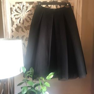Soprano Black Mesh Midi Skirt